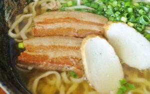 【ふるさと納税】【沖縄そば】自家製麺上原そば店 三枚肉そばセット(茹で麺4食入り)