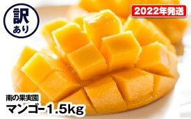 【ふるさと納税】【2022年発送】南の果実園 訳ありマンゴー1.5kg