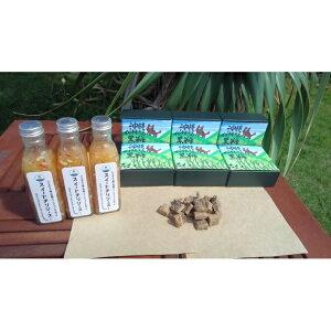 【ふるさと納税】西表島産 黒糖 900g&完熟パインアップルで作った スイート チリソース 3本 【加工食品】