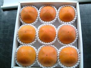 糖度22度 返金保証 和歌山 柿 新秋柿 3L 大玉9玉 約2.3kg 化粧箱 贈答用 SSS