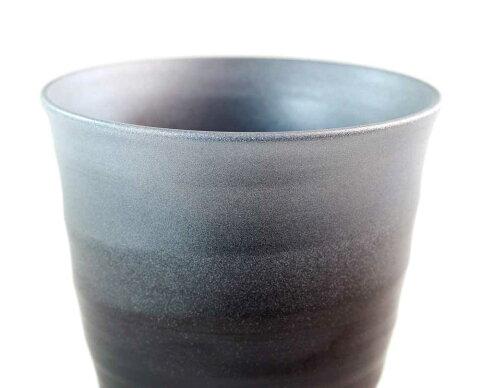 有田焼陶器焼酎グラス・ロックグラス窯変プラチナ彩焼酎カップ陶芸作家藤井錦彩作