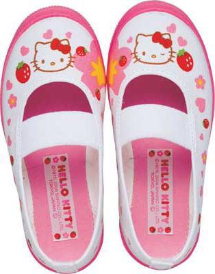 (A倉庫)アサヒ ハローキティ S02 スクールシューズ 上履き キャラクター キッズ 上靴 バレーシューズ