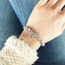 ★超おススメモデル★【PHILIPPE AUDIBERT/フィリップオーディベール】rhinestone bracelet silver color,レディース おしゃれ バング…