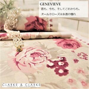 イギリス バラ柄商品名:GENEVIEVE/raspberryブランド名:CLARKE&CLARKE(クラーク&クラーク)*50cm以上10cm単位輸入生地 バラ 大柄 花柄 カルトナージュ 生地 布 カントリー 綿100%