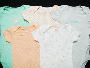 【あす楽】【新品】カーターズ(Carter's) ボディスーツ・ロンパース(半袖) インナーに最適!新生児・ベビー用・肌着 バラ売り(単品)KNC-222
