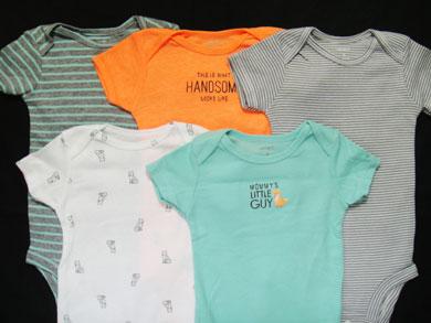 【あす楽】【新品】カーターズ(Carter's) ボディスーツ・ロンパース(半袖) インナーに最適!新生児・ベビー用・肌着 バラ売り(単品)KNC-319