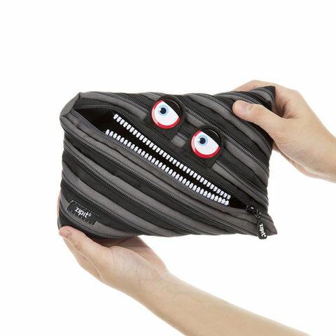 【Zipit】 ワイルドリングモンスター ジャンボポーチ monster pouch ブラック(黒)pencase 筆箱 ふでばこ ペンケース ポーチzip-025