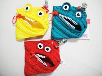 【Zipit ジピット】モンスターポーチ monster pouch 【コインケース】 pencase 筆箱 ふでばこ ポーチzip-008