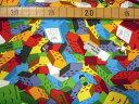 【オックス】★50cm単位続けてカット★カラフルブロックがいっぱいレゴ風柄
