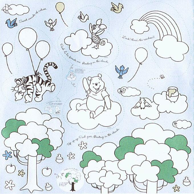 ★パネル単位続けてカット★ プーさん ぬりえパネル シーチング Disney/Winnie the Pooh【DEAL】