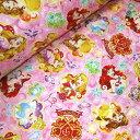 【キルト】06▲約48cmハギレ ディズニー2016 プリンセスの鍵(ラメ入り) 総柄【プリンセス シンデレラ ラプンツェル…
