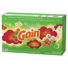 (Gain)ゲイン 乾燥機用柔軟シート トロピカルサンライズ 120シート 乾燥機用ソフナーシート(乾燥機用シート)【送料無料!】
