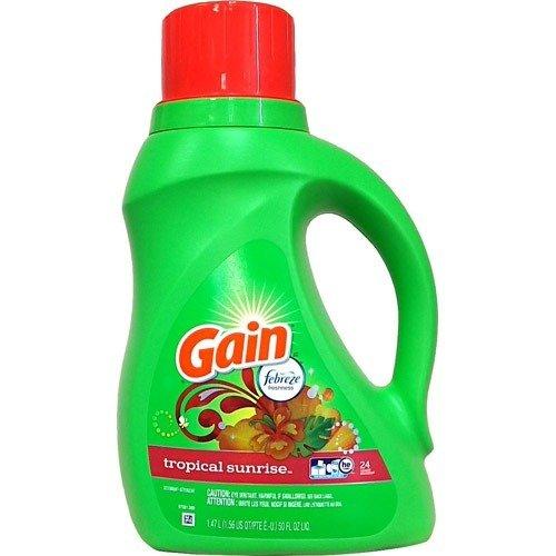 (Gain)ゲイン 衣類用洗剤 トロピカルサンライズ リキッド 1470ml【送料無料!】