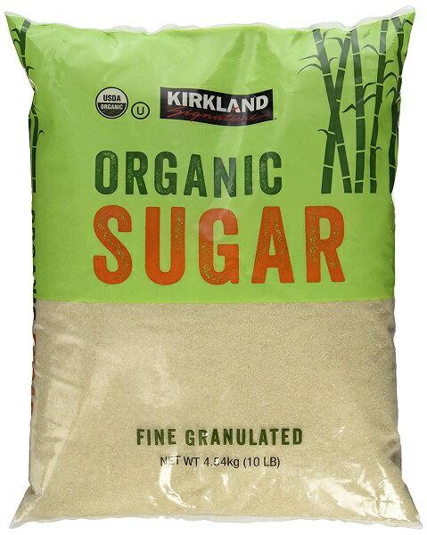 【在庫限り】【COSTCO】コストコ (Kirkland) オーガニック シュガー 有機砂糖 4.54kg 砂糖 カークランド 大容量 【送料無料】