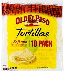 【在庫限り】【COSTCO】コストコ (OLD EL PASO) オールドエルパソ フラワートルティーヤ Tortillas 直径約20cm  800g(10枚×2袋)【送料無料】