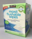 KIRKLAND Moist Flushable Wipes カークランド 流せるウェットティッシュ 60枚×10パック 【 お尻拭き Costco コスト…