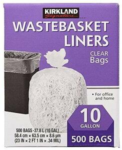【COSTCO】コストコ【KIRKLAND】(カークランド)ゴミ袋 キッチンバッグ ごみ袋 500枚(37.8L) 【送料無料!】