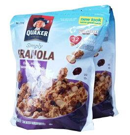 【在庫限り】【COSTCO】コストコ  【QUAKER】クエーカー100%ナチュラルグラノーラ 978g×2袋【送料無料】