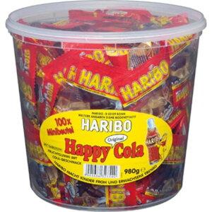 【在庫限り】【COSTCO】コストコ HARIBO ハリボー ミニハッピーコーラ バケツ 980g (100袋入り)【送料無料】