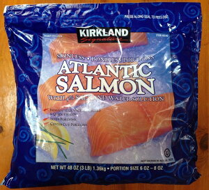 【在庫限り】【COSTCO】コストコ【KIRKLAND】(カークランド)ATLANTIC SALMON アトランティックサーモン(骨・皮無し) 1.36kg (冷凍食品)【送料無料】