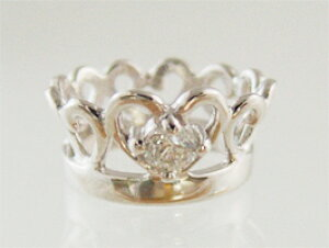 刻印できるティアラベビーリングK10ホワイトゴールド【ダイヤモンド】【ペンダントヘッド】出産記念 誕生祝い 出産祝い