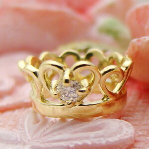 刻印できるティアラベビーリングK18イエローゴールド【ダイヤモンド】【ペンダントヘッド】出産記念 誕生祝い 出産祝い