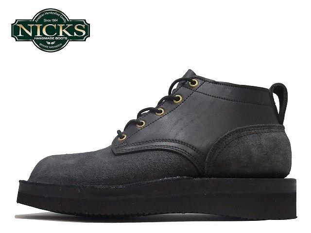ニックスブーツ NICK'S BOOTS 4inc OXFORD ブラック・ブラックラフアウト アメリカ製 メンズ ブーツ boots【送料無料!】【あす楽対応】【店頭受取対応商品】