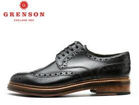グレンソン 靴 GRENSON ARCHIE アーチー ウィングチップ 110004 BLACKメンズ ビジネス