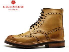 グレンソン 靴 ブーツ カントリーブーツ GRENSON FRED フレッド ウィングチップ 110011 TANメンズ ビジネス ブーツ
