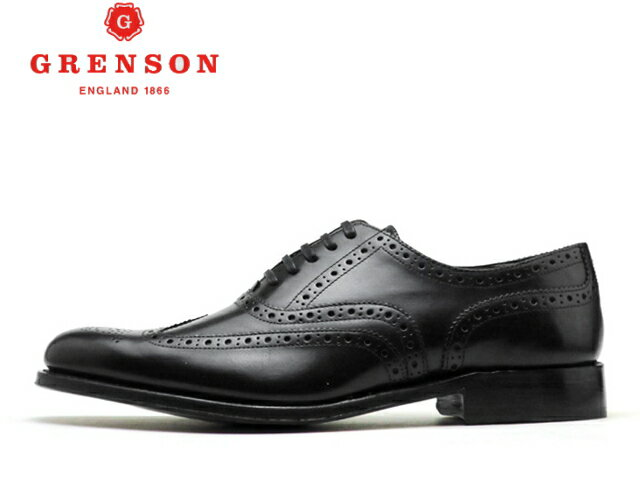 グレンソン 靴 GRENSON Dylan ディラン ウィングチップ 110013 BLACK【送料無料!】メンズ ビジネス