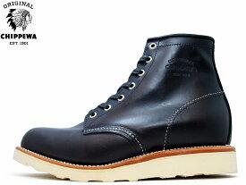 【エントリーでポイント最大44倍】 チペワ ブーツ CHIPPEWA プレーン トゥ ウェッジブーツ ブラック CHIPPEWA 6 PLAIN TOE WEDGE BOOTS 1901M15 BLACK メンズ mens boots
