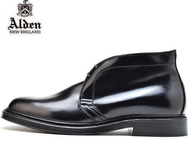 オールデン コードバン チャッカ ALDEN 1340 CHUKKA BOOT CORDVAN BLACK MADE IN USA アメリカ製 【送料無料!】メンズ ビジネス ドレス