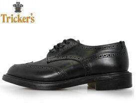 トリッカーズ レディース TRICKER'S Black Box Calf BURTON ダブルレザーソール L5679 ブラックボックスカーフ Tricker's ladies