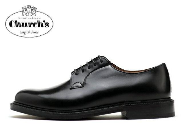 チャーチ シャノン 靴 Church's SHANNON プレーントゥ ブラック BLACK【送料無料!】メンズ ビジネス