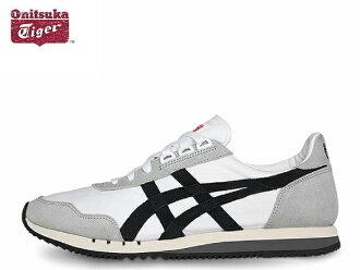 鬼冢虎双重 o 运动鞋男装鬼冢虎 DUALIO D600N.0190 白色/黑色白色和黑色运动鞋