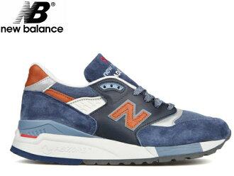 新百伦998深蓝newbalance人M998 DSNG深蓝/棕色made in USA men's sneaker人运动鞋