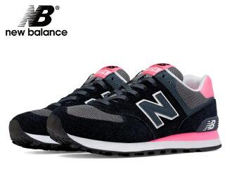 新平衡 574 女装 newbalance WL574 CPL 黑色 / 粉红色运动鞋新平衡新新平衡