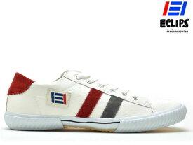 エクリプス ECLIPS マカロニアン maccheronian メンズ レディース スニーカー 42013 ホワイト/ダークグレー/レッド CLASSICS