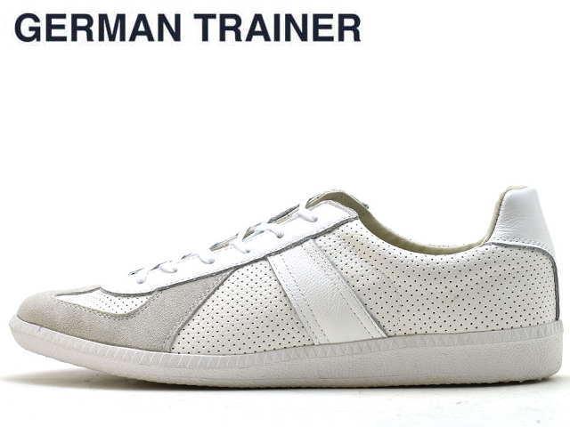 ジャーマントレーナー GERMAN TRAINER 42005 ホワイト/ホワイト メンズ レディース スニーカー