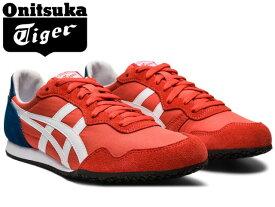 オニツカタイガー セラーノ スニーカー レディース メンズ Onitsuka Tiger SERRANO 600 レッドスナッパー×ホワイト