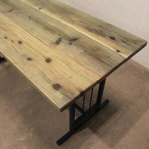 ダイニングテーブル 木製 【サイズオーダーで造る R(アール)シリーズ ダイニングテーブル R103】 テーブル 机 デスク アイアン 家具 ハンドメイド カフェ風 天然木 ダイニングテーブル
