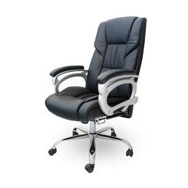 オフィスチェア 椅子 リクライニング 【 Emblem -エンブレム-】 ブラック オフィス 椅子 チェア