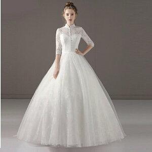 ウェディグドレス マタニティドレス 長袖 サイズオーダー 花嫁 二次会 大きいサイズ 白 ワンピース 海外挙式