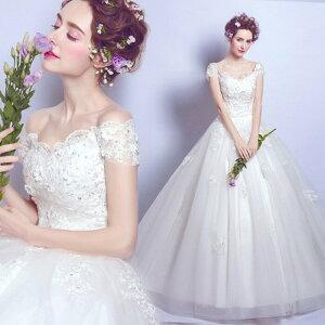ウェディグドレス プリンセスドレス マタニティードレス 海外挙式 トレーン サイズオーダー 二次会 大きいサイズ ドレス