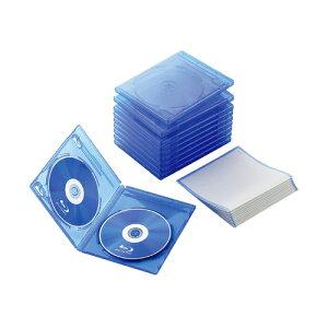 エレコム Blu-rayディスクケース(2枚収納タイプ) CCD-BLU210CBU【代引・後払い決済不可商品】