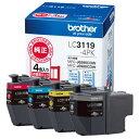 ブラザー 大容量インクカートリッジ LC3119-4PK(4色パック)【代引き不可】【後払い決済不可商品】