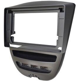 ca-pe22-380b 10.1インチ向け Peugeot プジョー 107 (2005-2014 H17-H28) ナビ取付フレーム ディスプレーオーディオ向け オーデイオフェイスパネル(オーディオ ナビ カーナビ カスタムパーツ 部品 )