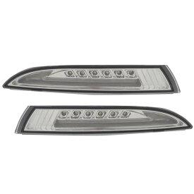 LL-VW-FMA-CR01 クリアーレンズ VW Scirocco III シロッコ3(Typ13 2009-2014)LEDウインカー&DRLデイライト(カスタム パーツ 車 フォルクスワーゲン サイドマーカー ウインカー カスタムパーツ ライト ウィンカー ランプ サイド マーカー )