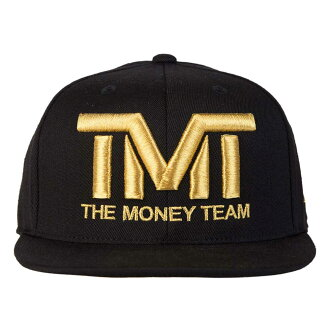 tmt-h006-3kg THE MONEY TEAM the money team COURTSIDE (black base & gold logo) embroidery cap (the men's TMT cap Floyd May weather snapback logo cap that Floyd May weather boxing hat is cool)
