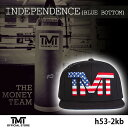 【TMT-H53-2KB】THE MONEY TEAM ザ・マネーチーム■INDEPENDENCE キャップ■アメリカロゴ 黒ベース■刺繍■フロイド・メイウェザー・ジ…